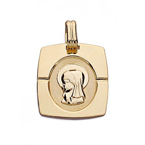 Médaille pendentif Nina Virgin de l'or 20mm 18k. [AA0161GR] - personnalisable - ENREGISTREMENT inclus dans le prix