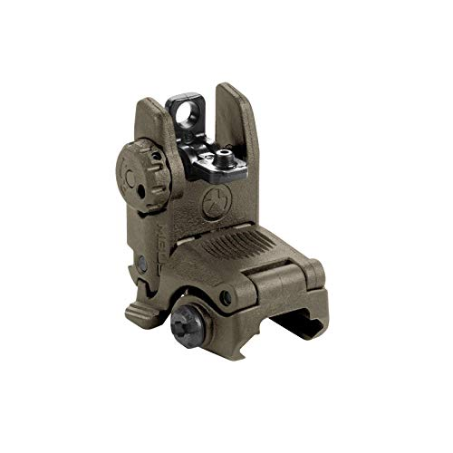 - Magpul MBUS Flip-Up Backup Sights, Olive Drab Green, Rear Sight