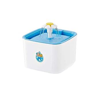 Dispensador del agua del animal doméstico del cuadrado de la pequeña flor, lavabo automático del