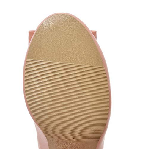 Légeres Talon Mélangées Couleurs Femme Correct Rose À Cuir Chaussures Tsfdh002936 Aalardom Pu qZHFw1IzW