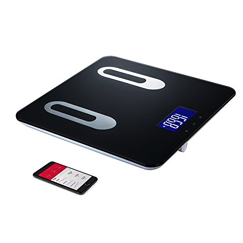 Digital Body Bath Scale - Measures Weight, Fat, Muscle, Bone & Hydration with Smartphone Tracking (black), 400-Pounds (Smart Phone Weight Scale)