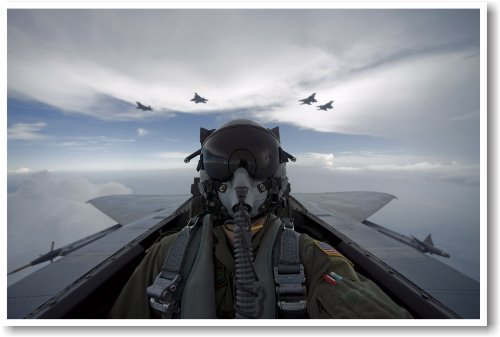 Self Portrait - F15 Fighter Pilot - NEW Military Us Air Force Poster