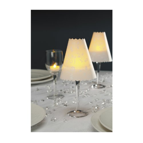 Darice David Tutera 12-Piece Lace Print Vellum Lampshade Wrap, White