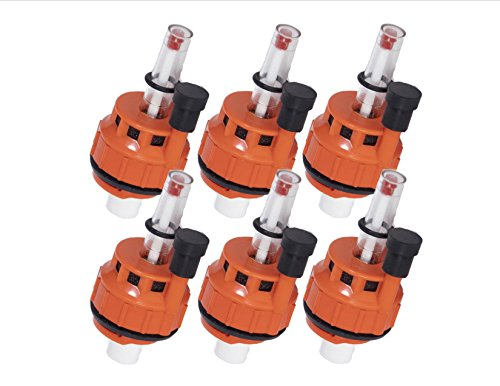 Battery Watering System Caps with Water Level Monitors for Batteries with 1/4-Turn Bayonet Style Mounts. ()