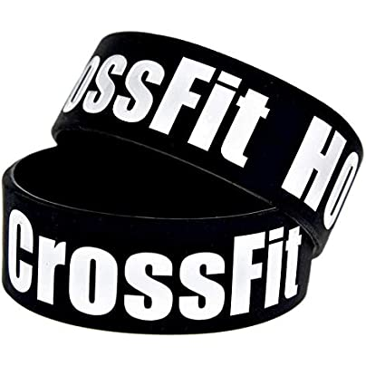 CWLLWC Silicone Bracelet Silicone Bracelets with Sayings Crossfit Holic Rubber Wristbands for Men Encouragement Set Pieces Estimated Price £25.99 -