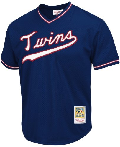 Kirby Puckett Navy Minnesota Twins Authentic Mesh Batting Practice Jersey – DiZiSports Store