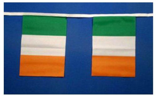 Ireland, Irish Flag Bunting 9metres/30ft Long with 30 -