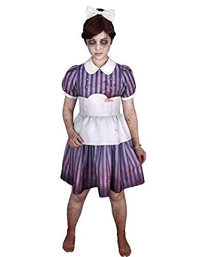 Miccostumes Women's Little Sister Cosplay Costume Stripe Dress Purple (XL) -
