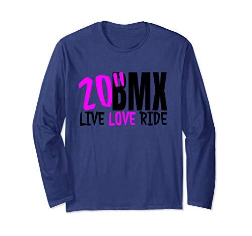 Bmx long sleeve t-shirt live love ride bmx tee for bmxer