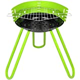 Tesler Portable Barbeque Grill with Stand, (Green)
