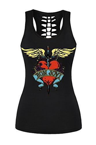 Womens Bon Jovi Racerback Camisole Tank Top