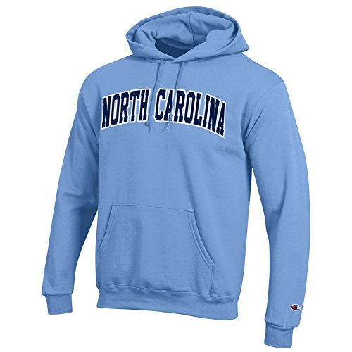 NCAA North Carolina Tar Heels Men's Eco Power Blend Hooded Sweat Shirt, Medium, Carolina Blue