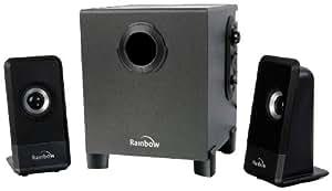 """Rainbow RBW MAGNO 2.1 SPEAKERS 25W altavoz - Altavoces (10,2 cm (4""""), 25 W, 50 W, 40 - 20000 Hz, 2.1 channels, 5,71 cm (2.25""""))"""
