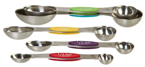 Prepworks by Progressive Snap Fit Measuring Spoons, Stainless Steel - Set of ()
