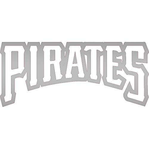 NBFU DECALS MLB Pittsburgh Pirates Logo 2 (Metallic Silver) (Set of 2) Premium Waterproof Vinyl Decal Stickers for Laptop Phone Accessory Helmet CAR Window Bumper Mug Tuber Cup Door Wall Decoration