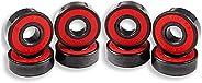 Jiaminye 8 Pcs Ceramic Bearings High Speed Wear Resistant for Skate Skateboard Wheel for Skateboard Scooters S
