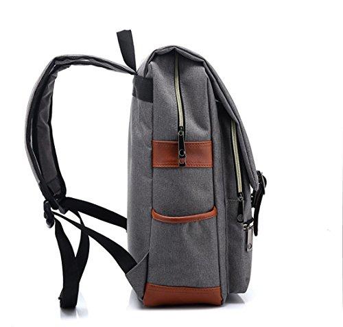 Verde Escolar Moda Escuela Claro Minetom 14 Unisex Backpack para Vintage Mochila Mochila Portátil Casual Rucksack Ordenador Gris Pulgada wOztqF