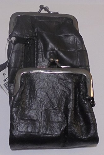 Croco Patched Lamb Skin Cigarette Case with Zipper Pocket and Lighter Case Fit 100 and 120's