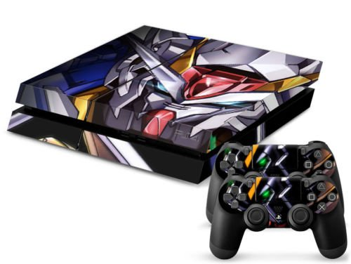 MightyStickers® PS4 Designer Skin Game Console System plus Two(2) Controller Decal Vinyl Protective Covers Stickers for Sony PlayStation 4 - Anime Mecha Mobile Suit Gundam Wing E.F.S. Force Prototype