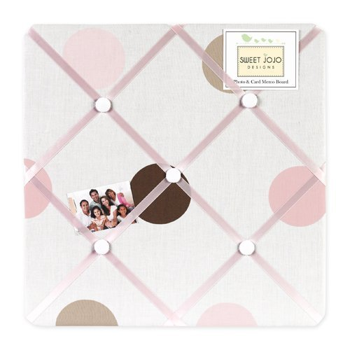 Sweet Jojo Designs Pink and Brown Mod Dots Fabric Memory/Memo Photo Bulletin Board