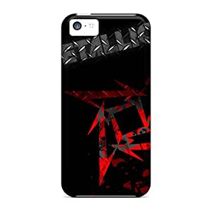 High Quality Phone Case For Iphone 5c With Customized Vivid Metallica Band Skin JamieBratt