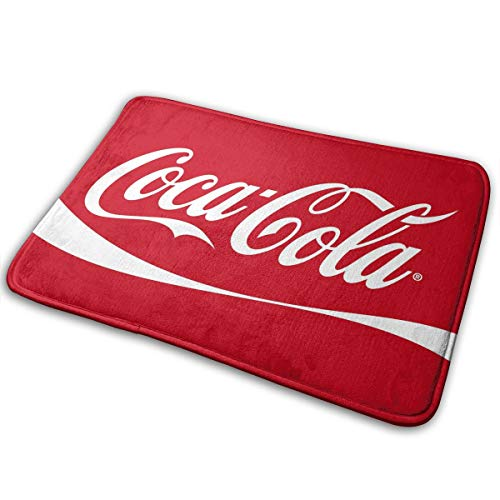 HQFMEVVU Coca Cola Logo Bath Mat Non-Slip Bathroom Mats Bathroom Rug Doormat Indoor Carpet Door Mat Floor Pads (15.7