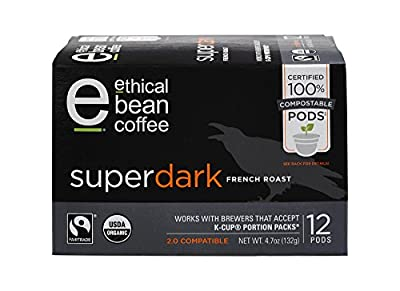 Ethical Bean Coffee 12 Compostable Single Serve Pods