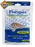Platypus Ortho Flosser for Braces, 30 count, 5 Pack