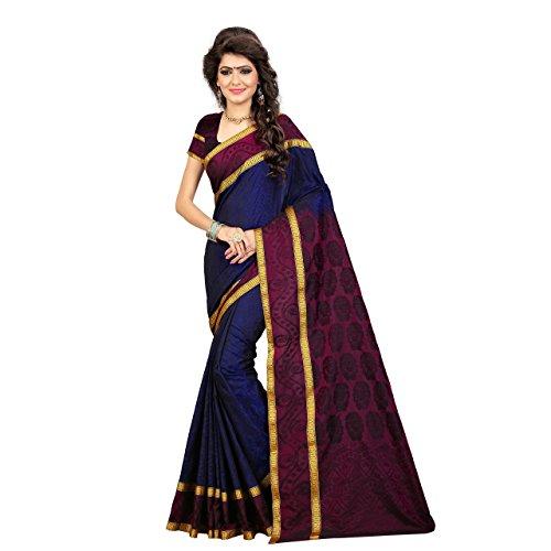arars Women's Mysore Silk Saree Kanxchipuram Style Free Size Royal Blue