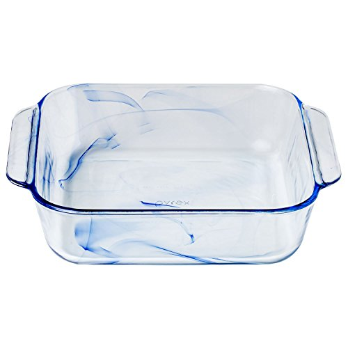 Pyrex, Pan Square Glass Blue, 1 Count from Pyrex