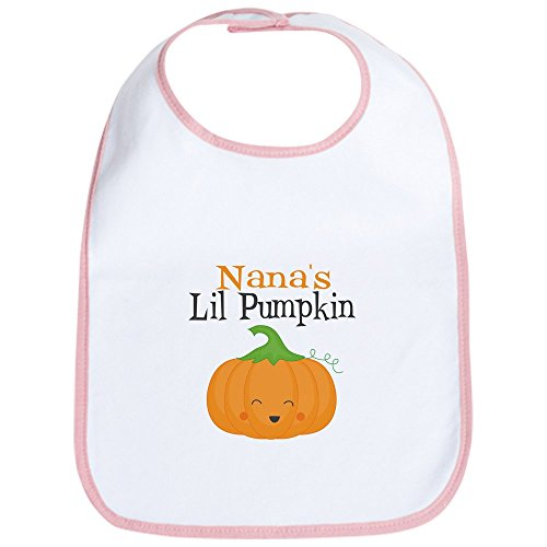 Cute Halloween Quotes Baby (CafePress Nanas Little Pumpkin Bib Cute Cloth Baby Bib, Toddler)