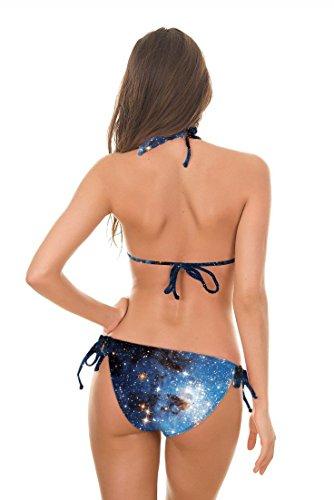 SZH Tamaño medio de las mujeres halter traje de baño de dos piezas bikini de moda