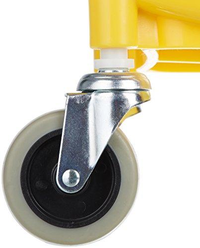AmazonBasics Side Press Wringer Combo Commercial Mop Bucket on Wheels, 35 Quart, Yellow
