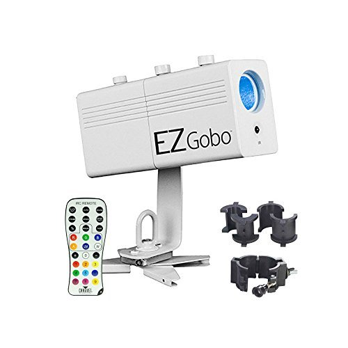 Chauvet EZgobo Rechargeable LED Gobo Lighting Effect with Chauvet CLP-10 Clamp by Chauvet