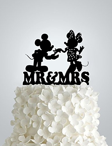Acrylic Wedding cake Topper - Disney