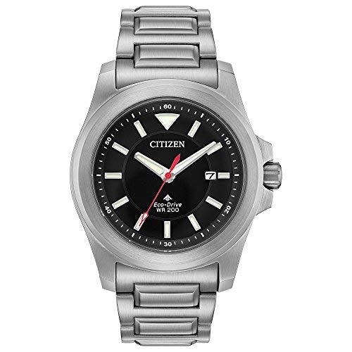 Men's Citizen Eco-Drive Promaster Tough Black Dial Bracelet Watch BN0211-50E ()