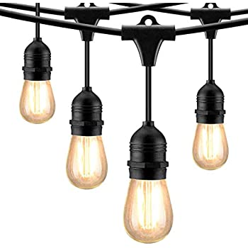 Amazon Com Mpow 49ft Led Outdoor String Lights Ul