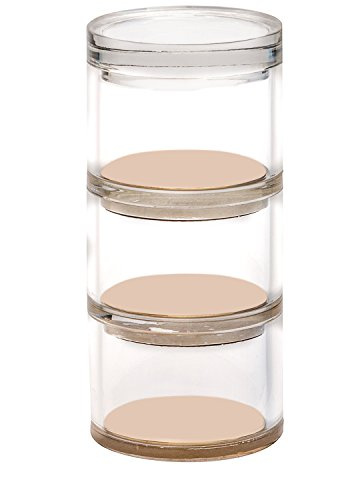 Acrylic & Gold Desk Accessory - 3 Tier Organizer That Provides a Classic Modern Design to Brighten Up Your Desk - Create Your Elegant Office!