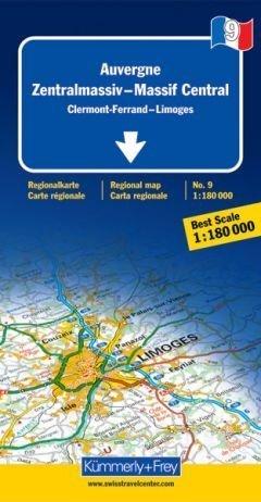 Auvergne / Zentralmassiv 1 : 180 000. Straßenkarte