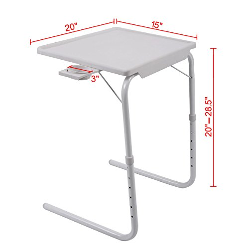 Table mate folding 2 smart easy to clean with cup holder tablemate adjustable highly - Adelaide Sales Boxing Day