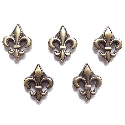Fleur De Magnet Lis - Fleur De Lis Morning Sky Home Decor Refrigerator Magnets / Magnet Board 5-pc Magnet Set