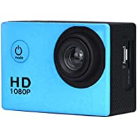 SMTSMT 2017 Waterproof Sports Recorder Car DV Action Camera Camcorder 1080P HD--Blue