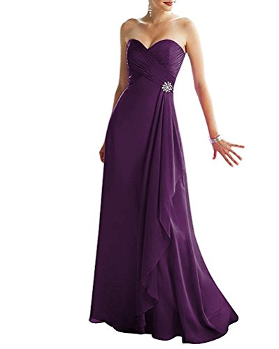 f028cfeb66f VaniaDress Women A Line Sweetheart Long Bridesmaid Evening Dress V293LF  Plum US14