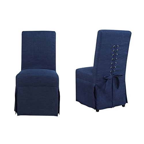 Picket House Furnishings Hayden Dining Chair in Blue (Set of 2) (Dining Hayden Set)