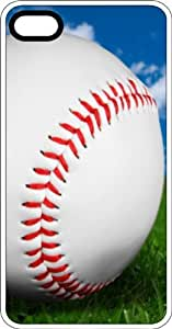 Baseball Up Close In Spring Clear Rubber Case for Apple iPhone 5 or iPhone 5s