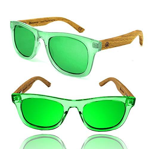 Wildwood Kids Wayfarer Polarized Sunglasses (Ages 4-8) - Hard Wayfarer Sunglasses And Wood