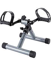 FITODO Mini Fahrrad Pedaltrainer für Arm- und Beintrainer Heimtrainer Faltbare(Silber Grau)