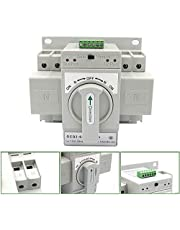 YaeTool Mini Dual Power Automatic Transfer Switches Self Cast Conversion 50HZ AC-33iB AC 110V 63A 2P