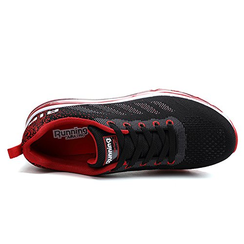 Nero Ginnastica Gym Running Scarpe Shoes da Basse Rosso Sportive Fitness Sneakers Unisex EPRAwqq
