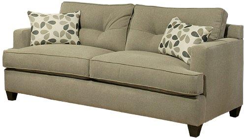Furniture of America Parke Microfiber Fabric Sofa, 82-Inch, Sand